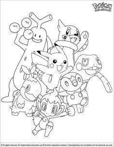 Pokemon Coloring Sheets, Coloring Sheets For Kids, Cute Coloring Pages, Cartoon Coloring Pages, Free Coloring, Coloring Books, Black Pokemon, All Pokemon, Pyssla Pokemon