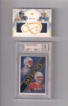 Tom Brady Rookie Card Beckett 7.5 NM+,Tom Brady 2003 Ultimate Dual Jersey SP #NewEnglandPatriots