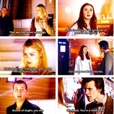 Interesting that Rose thinks of her mum being dead and Amy thinks of herself. It really shows that Amy doesnt have anyone (or doesnt think she does) while Rose still has people, yet they both run off with the doctor