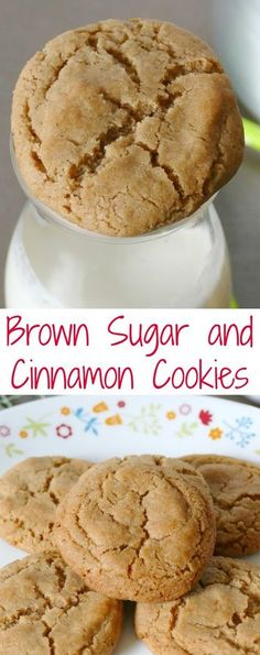 Brown Sugar and Cinnamon Cookies Easy to make and delicious too! Perfect for any cinnamon lover! Make for your next Christmas cookie exchange, fall party, or game day party! Great for lunches and after school snacks too! - Brown Sugar and Cinnamon Cookies Brown Sugar Cookie Recipe, Brown Sugar Cookies, Cinnamon Cookies, Chocolate Cookie Recipes, Easy Cookie Recipes, Sugar Cookies Recipe, Baking Recipes, Christmas Cookie Recipes, Cinnamon Desserts
