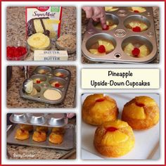Pineapple Upside-Down Cupcakes ~ Recipe of today