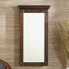 Jewelry Armoire Wall Mount Display Organizer Mirror Antique Style Home Decor NEW #upton