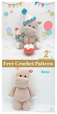 Hippo Amigurumi Free Crochet Pattern #freecrochetpatterns #toy