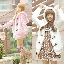Thicken Warm Plush Fleece Bunny Ears Outerwear Coat - Kawaii Fashion Korean Cute