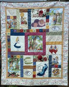 Alice in Wonderland Quilt by jennie-robyn fussy cut different sizes