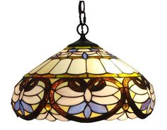 The rich baroque style is captured elegantly in this bright pendant light accented with colorful patterns. This piece from Amora Lighting is handcrafted using the same techniques that were developed by Louis Comfort Tiffany in the early 1900's. Rustic Tiffany Style Baroque Pendant Lamp by Rustica House. #myRustica