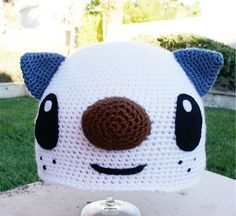Oshawott Sea Otter Inspired Crochet hat (etsy listing)