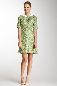 Orla Kiely Silk Daisy Meadow Peter Pan Collar Dress