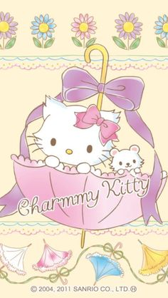 Charmmy Kitty and Sugar . Hello Kitty Drawing, Hello Kitty Art, Hello Kitty Pictures, Sanrio Wallpaper, Hello Kitty Wallpaper, Pochacco, Kawaii Room, Hello Kitty Collection, Anime Cat