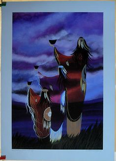 $39.99 Native Spiritual Art Print Signed- Womens Ceremony by Wabimeguil