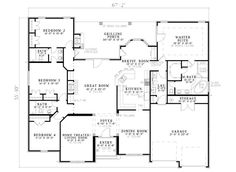 Traditional Plan First Floor 055D-0748 | House Plans and More from houseplansandmore.com