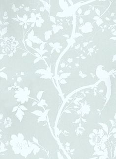 Oriental Garden Eau de Nil wallpaper by Laura Ashley