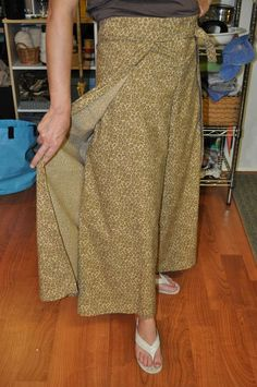 How to make wrap pants