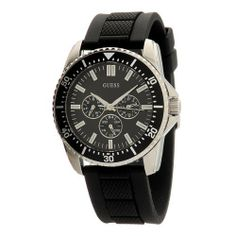 GUESS Men's W90053G1 Round Case Black Dial Watch GUESS. $110.01