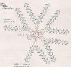 Bya Ferreira - Crochet Designer: Caminho de mesa Beija-flor - Receita
