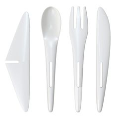 Yes!  (the part on the left turns any of the utensils into a little airplane) Air France's New Aerodynamic Cutlery