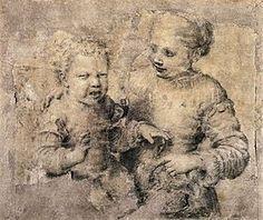 Sofonisba Anguissola — Bambin mordu par une écrevisse - circa 1554, Naples, Museo nazionale du Capodimonte, Cabinet des dessins et estampes