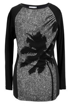Aldona bluzka palma czarno-biała/ Aldona palm blouse Black and White #newin #new #collection #palm #blac #white