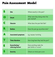 Image result for pain assessment SOCRATES