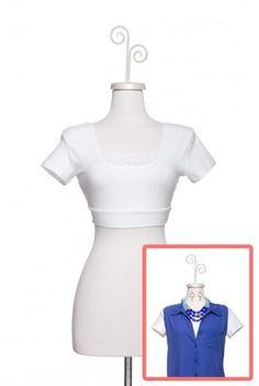 Peekaboo Cap HALFTEE in White - $29.95