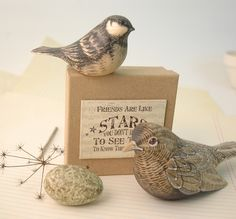 East of India Hand Painted Wooden Birds (Codes 15 and 13)