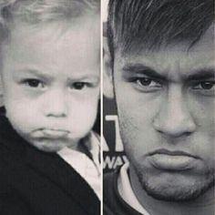 Neymar and Davi Lucca Neymar Jr, Good Soccer Players, Football Players, Inspirational Soccer Quotes, Mad Face, Neymar Brazil, Dani Alves, Football Fever, My Guy