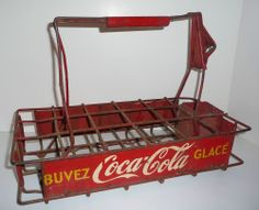 Coca Cola vintage stadium vendor carrier opener bottle Coke Coca-Cola wire tray
