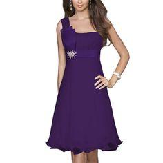 Ever-Pretty Ever Pretty One Shoulder Bow Stunning Rhinestones Padded Club Dress 03229 - Clothing - Women's - Dresses $45.99