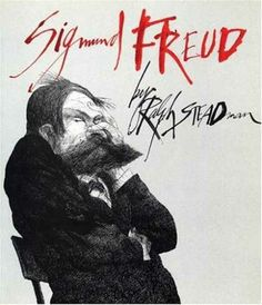 Sigmund Freud book cover for the illustrated book by Ralph Steadman
