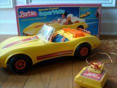 Barbie Super Vette Remote Control Car #70sbaby