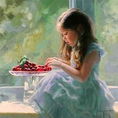 Children Paintings by Vladimir Volegov. Born in Chabarovsk, Russia, Vladimir began painting at the age of three. After having attended the art school, and Albrecht Durer, Painting For Kids, Painting & Drawing, Children Painting, Apple Painting, Orange Painting, Art Children, Painting People, Vladimir Volegov