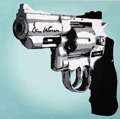 Acrylic on canvas Revolver 70x50cm