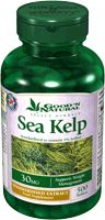 The benefits of sea kelp:     Nutrients: Sea kelp is a natural source of vitamins A, B1, B2, C, D and E, as well as minerals including zinc, iodine, magnesium, iron, potassium, copper and calcium. In fact it contains the highest natural concentration of calcium of any food - 10 times more than milk.
