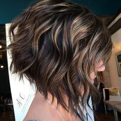 """281 Likes, 6 Comments - OWNER/STYLIST @_avesalon (@styled_by_carolynn) on Instagram: """"Textured bob with a shadowed root . #avesalonbeautiful #olaplex #kevinmurphy #behindthechair…"""""""