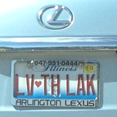 Illinois License Plate:  Who doesn't love the lake?