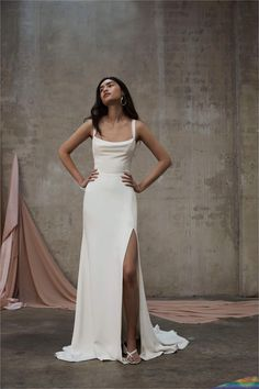 Feb 16, 2020 - Our PJB Mira gown is made from a heavy weight 100% silk faille with a 100% silk satin lining. Dream Wedding Dresses, Bridal Dresses, Prom Dresses, Gown Wedding, Plain Wedding Dress, White Simple Wedding Dress, Sheath Wedding Dresses, Simple Long Dress, Bride Dress Simple