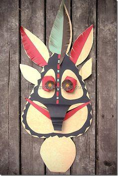 mascaras caseras africanas para isfraz todohalloween