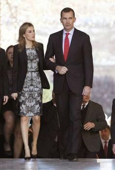 Prince Felipe and Princess Letizia attended 'Arte y Culturas de Al-Andalus. El poder de la Alhambra' exhibition at Carlos V Palace in Granada.