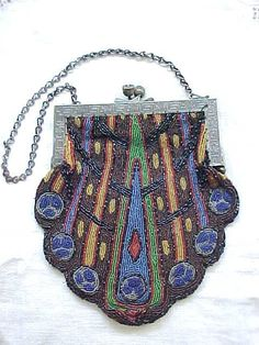 image+art+deco+purse | Art Deco Beaded Purse from rivertowngal on Ruby Lane