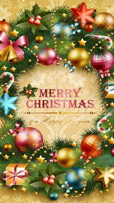 Merry Christmas & A Happy New Year Happy Christmas Day Images, Best Christmas Wishes, Merry Christmas Pictures, Christmas Scenery, Merry Christmas Greetings, Christmas Background Images, Christmas Drawing, Christmas Paintings, Christmas Art