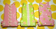 Lilly dress cookies