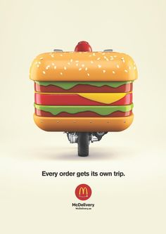Print advertisement created by United Arab Emirates for McDonald's, within the category: Food. Clever Advertising, Print Advertising, Advertising Campaign, Print Ads, Drive In, Ads Creative, Creative Posters, Burger Delivery, Food Poster Design