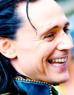 Ah, my beautiful lord Loki. He is crazier than a loon. Tis the Bifrost in his blood makes him thus.