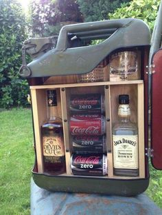 Details about Upcycled Jerry Can * Mini Bar * Ideal Gift * Camping Accessory Upcycled Jerry Can * Mini Bar * Ideales Geschenk * Campingzubehör * Mini Bars, Camping Gifts, Camping Ideas, Jeep Camping, Diy Camping, Camping Places, Camping Survival, Camping Accesorios, Jerry Can Mini Bar