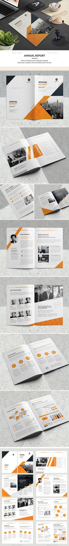 Clean Annual Report — InDesign INDD #informational #creative • Download ➝ https://graphicriver.net/item/clean-annual-report/19184304?ref=pxcr