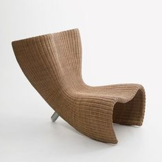 Marc Newson He is a successful industrial designer who works in aircraft design, product design , furniture design, jewellery, and. Rattan Furniture, Design Furniture, Chair Design, Cool Furniture, Outdoor Furniture, Pine Chairs, Outdoor Wicker Chairs, Used Office Chairs, Industrial Office Chairs