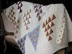 antique half square quilt
