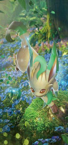 Leafon in its original region/home or Habitat. Leafon in its original region/home or Habitat. Gif Pokemon, Fan Art Pokemon, Pokemon Images, Cool Pokemon Wallpapers, Pokemon Backgrounds, Cute Pokemon Wallpaper, Animes Wallpapers, Photo Pokémon, Pokemon Eevee Evolutions