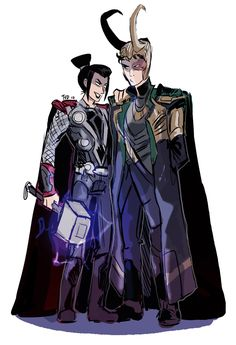 Azula/Thor and Zuko/Loki.  That's so awesome... kinda weird to have Azula as Thor, since Zuko is the one who cleans up and Loki is far from cleaning up, but, hey, ZUKO AND LOKI.  Twice the epic.