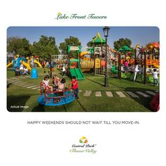Book now and Enjoy weekends with your children in 2 Acres Children's Amusement Area even before you move-in. #CentralParkIN